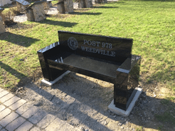 Valley Legion Bench Installed at Mt. Zion Park