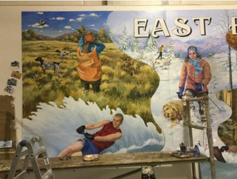 East Brady Mural: Playground on the Allegheny