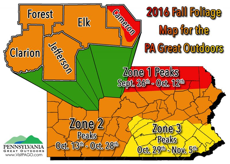 Fall Foilage Map